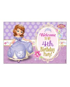 Sofia the first Enchanted Garden Party Welcome Banner