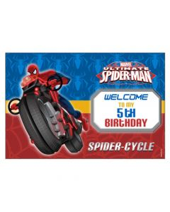 Spiderman Welcome Banner