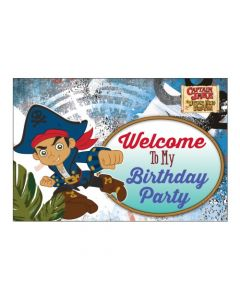 Captain Jake and the Neverland Welcome Banner