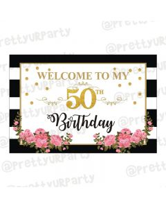 Milestone Birthday Theme Entrance Banner