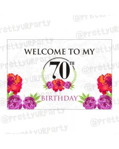 70th Birthday Theme Entrance Banner