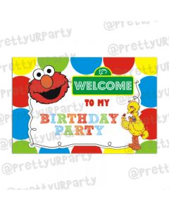 Elmo Theme Entrance Banner / Door Sign