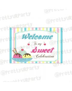 Ice Cream Theme Entrance Banner