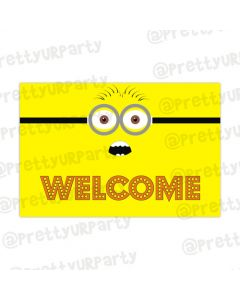 Despicable Me Minions welcome banner