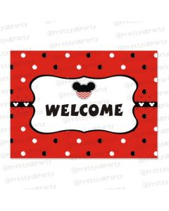 Mickey Mouse Inspired Entrance Banner