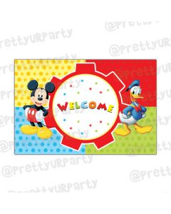 Mickey Mouse Clubhouse Inspired Entrance Banner