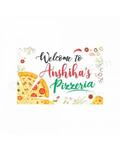 Pizza Party Theme Entrance Banner / Door Sign