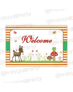 woodland/forest theme entrance banner