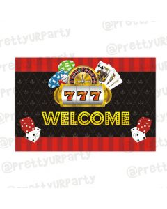 Casino Night entrance banner / door sign