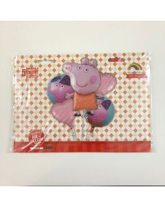 Peppa Pig Foil Balloons - Pack of 5