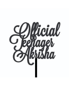Official Teenager Cake Topper