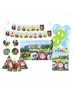 Masha and The Bear Party Decorations Package