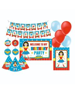 Wonder Woman Party Decorations Package