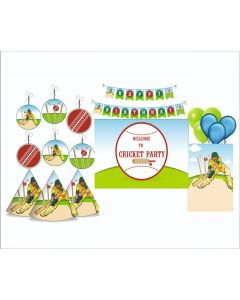 Cricket Party Decorations Package - 70 pieces
