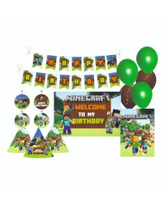 Minecraft Party Decorations Package