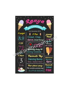 Ice Cream Theme Chalkboard Poster