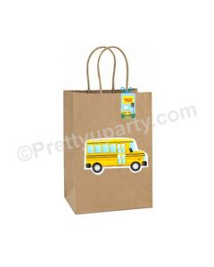 Wheels on the Bus Theme Gift Bags - Pack of 10