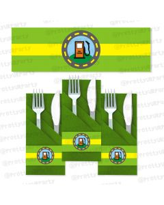 wheels on the bus napkin rings