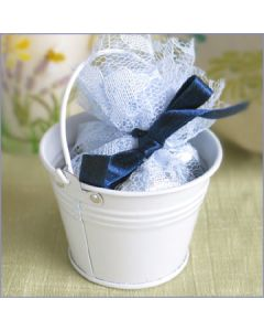 white small bucket favors