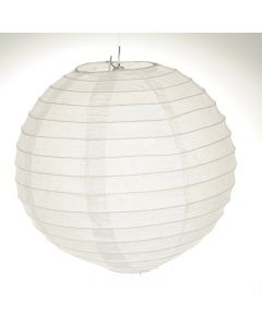 White Round Paper Lamps 12""