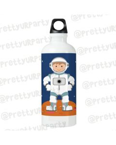 Personalised Space Sippers / Waterbottles - White