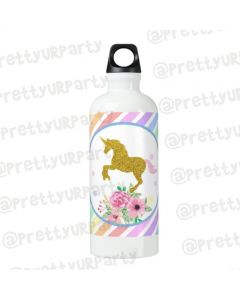 Personalised Unicorn Sippers / Waterbottles - White