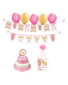 Boho Chic Half Birthday Decorations for Girl