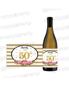 Milestone Birthday Champagne / Wine Label