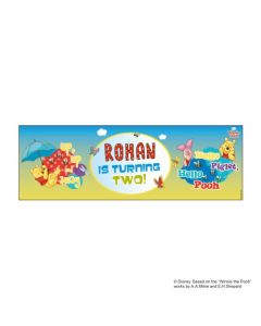 Personalized Winnie the Pooh Birthday Banner 36in