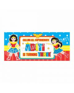 Personalized Wonder Woman Theme Banner 30in