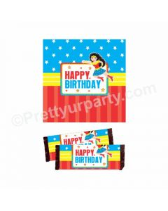 Wonder Woman Theme Chocolate Wrappers