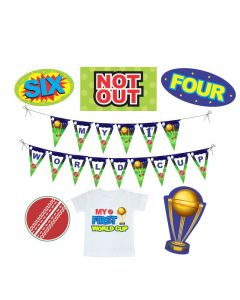 World Cup First Birthday Decorations Package
