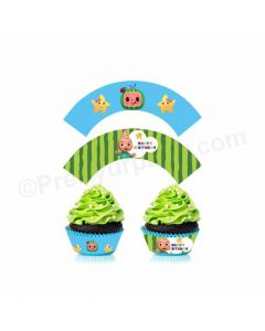 Cocomelon Theme Cupcake Wrappers
