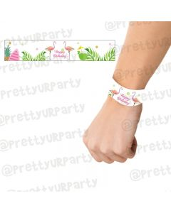 Flamingo Theme Wrist Bands