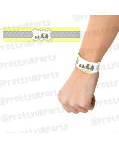 Elephant Baby shower Wrist Bands