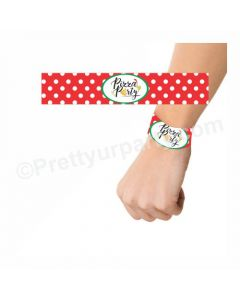 Pizza Party Theme Wrist Bands