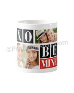 Happy Valentines Day Be Mine with Photo Mug