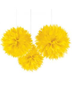 Yellow tissue pom pom