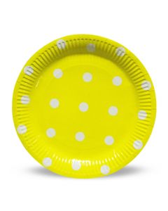 Yellow Polka Dots Paper Plates