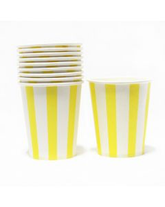 Yellow Stripes Paper Cups