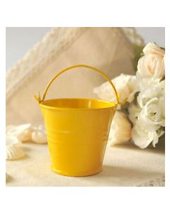 yellow small bucket favors