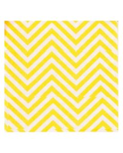 Yellow zigzag Paper Napkins