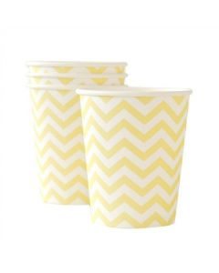 Yellow Chevron Paper Cups