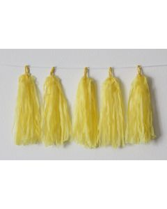 Yellow Tassel Garland
