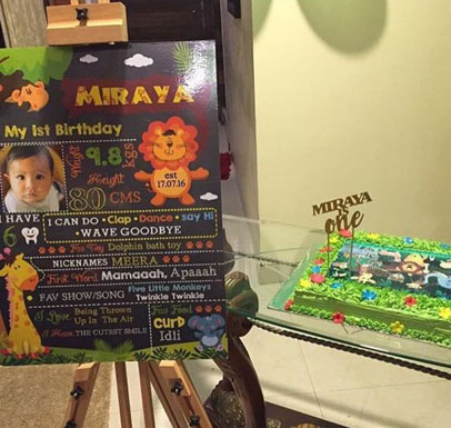 Half Birthday Decoration Package Handcrafted Banner Chalkboard Posters